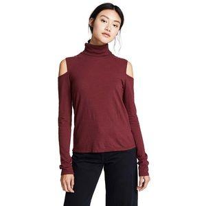 Pam & Gela Cold Shoulder Long Sleeve Top NWT
